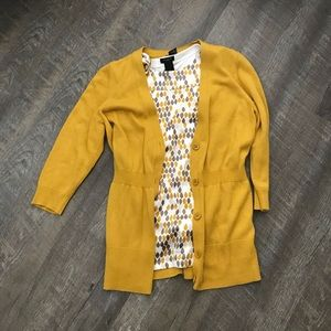 Ann Taylor Tops - Ann Taylor Sleeveless Yellow and Gray Blouse